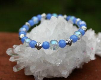 Sapphire iridescent bracelet