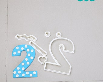 2 Year Old Fondant Cutter    2 year old boy gifts,