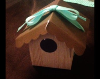 Birdhouse party favor boxes
