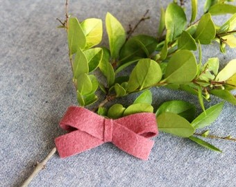 Mini Rose Felt Hair Bow
