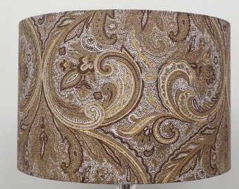 Paisley Gold / Cream Lampshade Pendant Ceiling Light