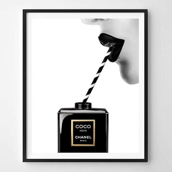 Chanel zu drucken, moderne print, Mode, Kunst, Chanel, minimalistisch, digitale Kunst, Parfüm, Printable, digitales Drucken Instant Download 11 x 14, 16 x 20, A4