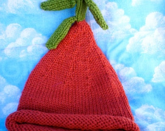Carrot top handknit hat