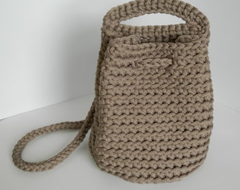 Unique crochet handbag/knit bag/ crocheted rope bag/fashion/woman accessories/knitted tote bag/handmade bag/summer spring bag