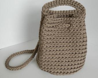 Unique crochet handbag/knit bag/ crocheted rope bag/fashion/woman accessories/knitted tote bag/handmade bag/summer spring bag