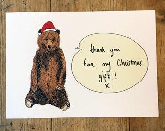 10 Fun large Christmas gift thank you postcards