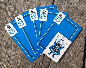 Vintage Playing Cards (5) King of the World Retro Playing Cards Single Swap Cards Vintage Craft Vintage Ephemera Smash Book