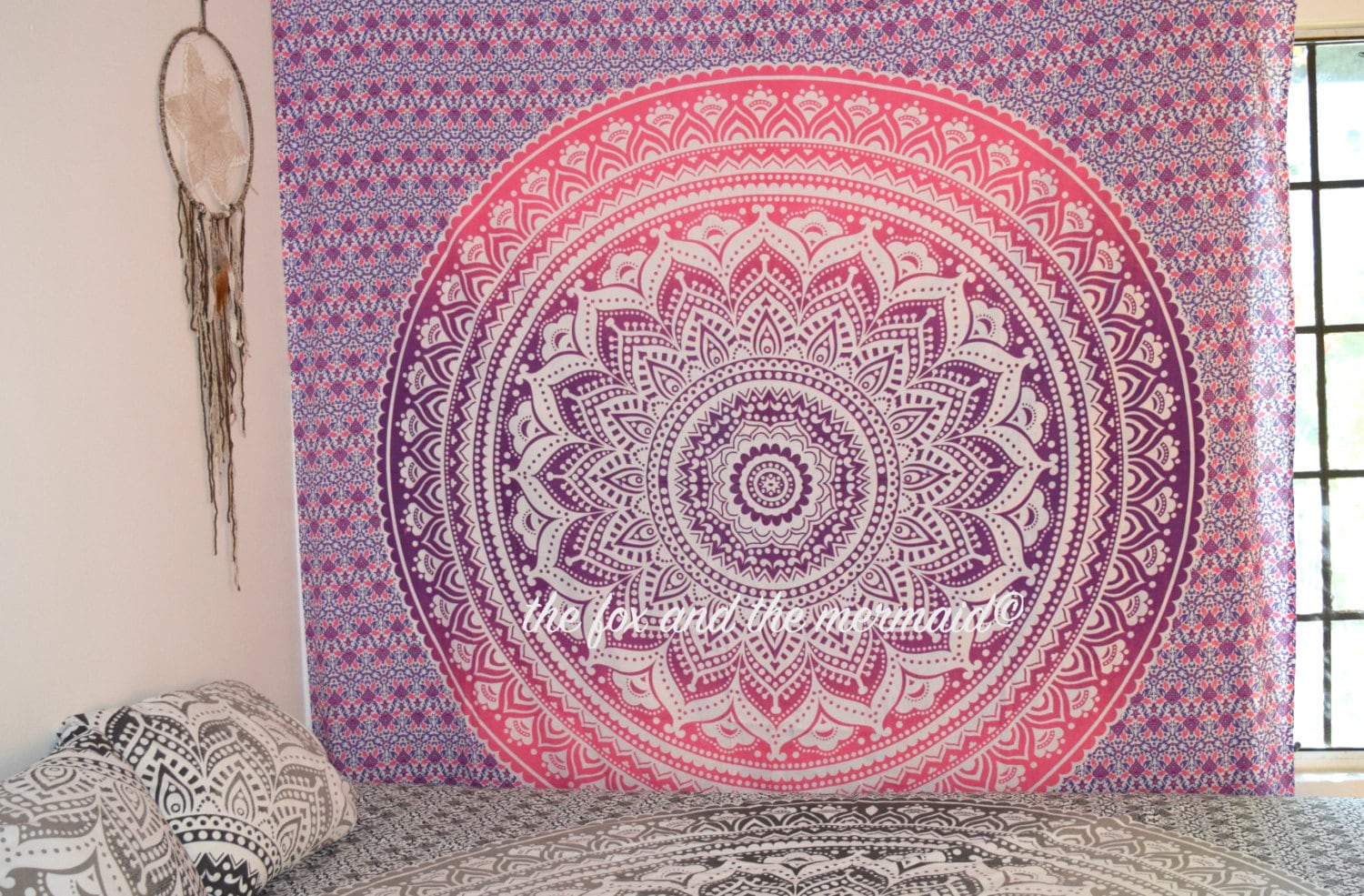 Mandala tapestry wall hanging queen size tapestry sheet for Fomic sheet wall hanging