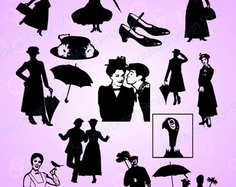 Mary Poppins Chimney Sweep Silhouette Images Mary Poppins And Bert ...