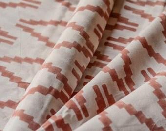 Pinkish Peach Modern Upholstery Fabric