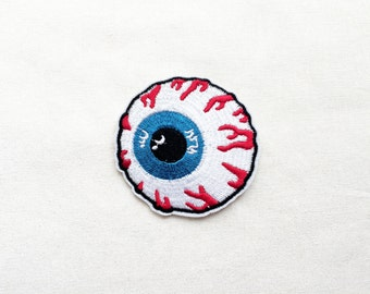1x eyeball eye patch horror blood rockabilly punk Iron On Embroidered Applique