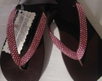 Swarovski crystal embellished Havaianas Flip Flops