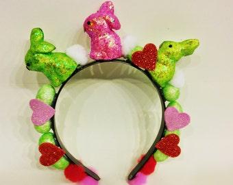 Bunny Headband, Easter Wear, Basket Stuffer, Easter Gift, Child, Adult, Easter Party, Easter Headdress, Easter Outfit, Easter Basket Filler