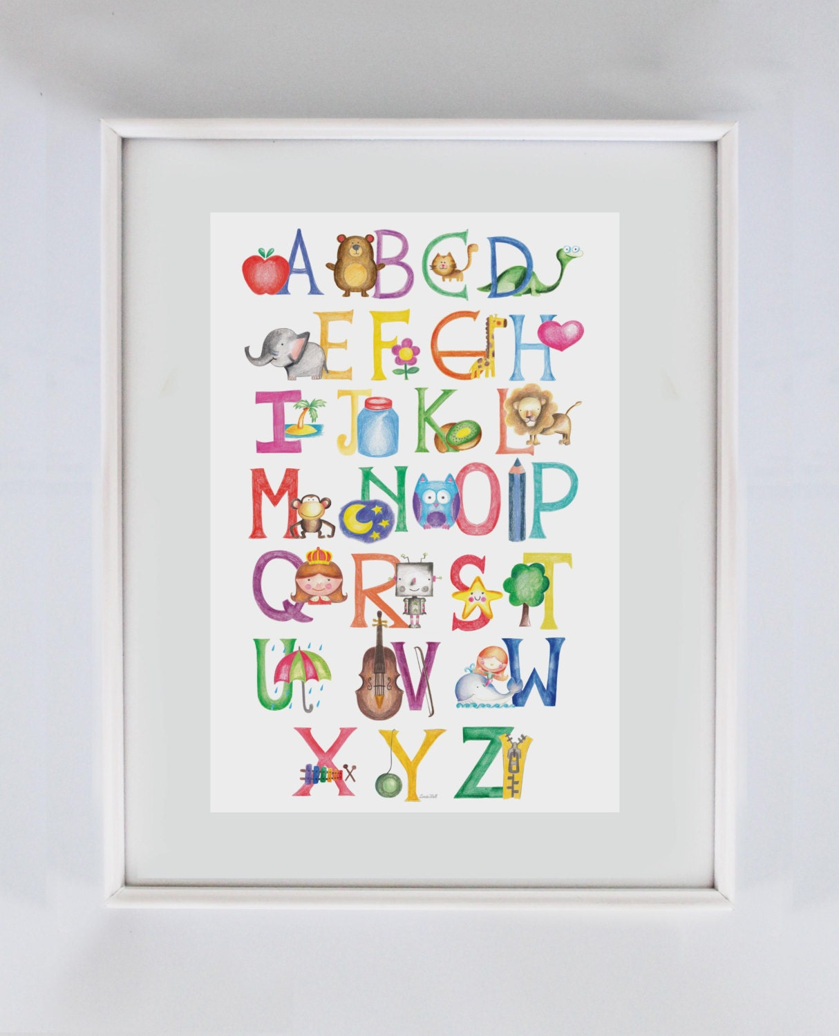 Classroom decor abc art print decor educational wall art - Classroom wall decor ...