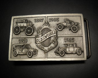 Oldsmobile Rectangle Belt Buckle R&S 1976 Olds Thru The Years