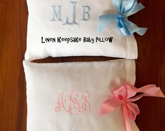 Keepsake Linen Baby Pillow