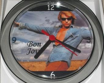 Jon Bon Jovi novelty wall clock 17.5cms New