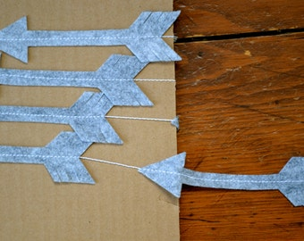 Arrow Garland - Felt Garland, Home Decor, Party Decor
