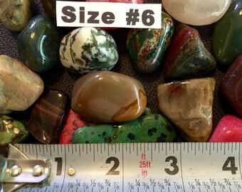 Polished Mixed Gemstones.....500 Carats  -  Size #6