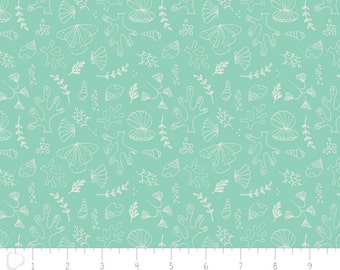Under the Sea Teal Tonal Fabric From Camelot