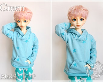 1/3BJD Ribbed Hoodie For 10SD / 13SD boy/girl doll