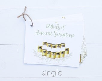 SINGLE Biblical Oils Printed Booklet | 13 High-Quality Postcards Tied With Twine | Compliant!