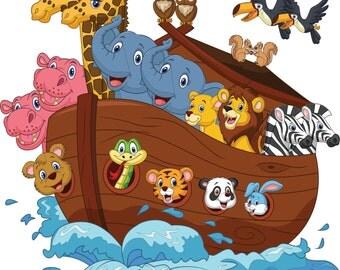 Noah's Ark Wall Decal/ Nursery Decor