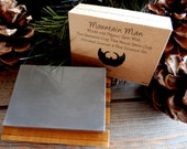 Mountain Man - 100% Natural Soap / Charcoal, French Green & Bentonite Clay / Essential Oils / Fir Needle / Rosewood / Cedarwood / Tea Tree