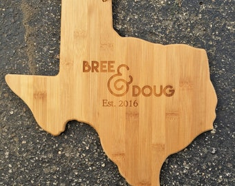 State Cutting Board,Ampersand,Texas,Personalized Cutting Board,Shower Gift,Wedding Gift,Anniversary Gifts,Housewarming Gift,Engrave