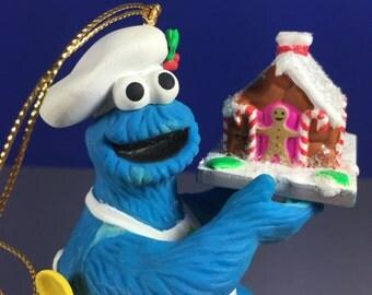 Cookie Monster Ornament / Grolier