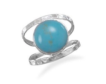 Sterling Silver Turquoise Open Band Style Ring