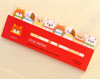 Dog Sticky Notes - Cute Kawaii Post-It Notes / Cute Stationery / Cute Stationary / School Supplies / Stick Marker / Sticky Notes Tabs