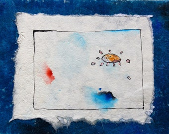 wall painting, Abstract Art, Acrylic paint, Blue painting, wall decor, Kids Art,