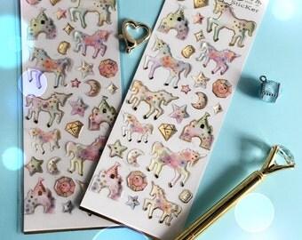 Dreamy Planner Stickers - Dreamy Unicorn