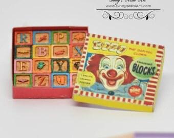 1:12 Dollhouse Miniature Boxed Blocks Kit/ Miniature toy DI TY103