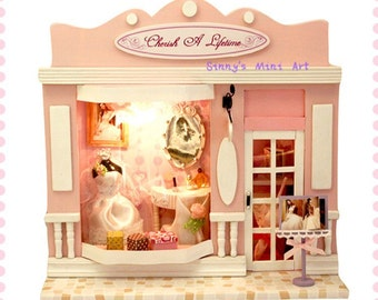 """DIY 1:24 miniature """"cherish a lifetime"""" kit/ dollhouse kit"""