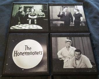 Honeymooners Ceramic Tile Drink Coasters