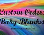 No Sew Fleece Blanket - You Pick The Fabric - Custom Order - Baby