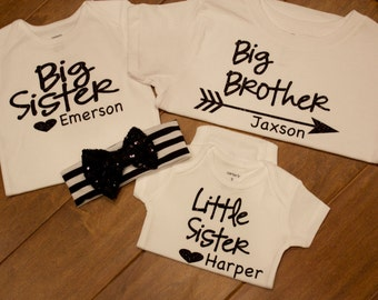 big sister Shirt, big brother Shirt, little sister shirt, sister shirts, big sister shirt, little sister shirt, big brother shirt,