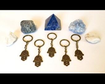 Bronze Hamsa Hand Keychain