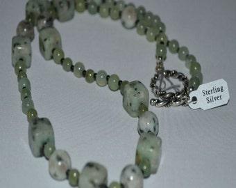 Kiwi Jasper Stone Necklace