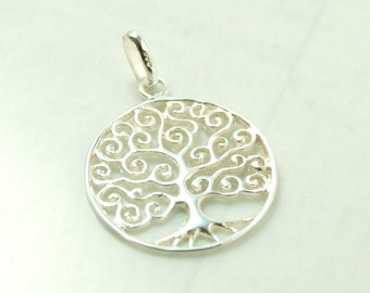 Tree of life, pendant with loop, 925 silver art.3371