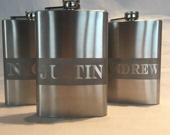 Custom Engraved 8oz Flask