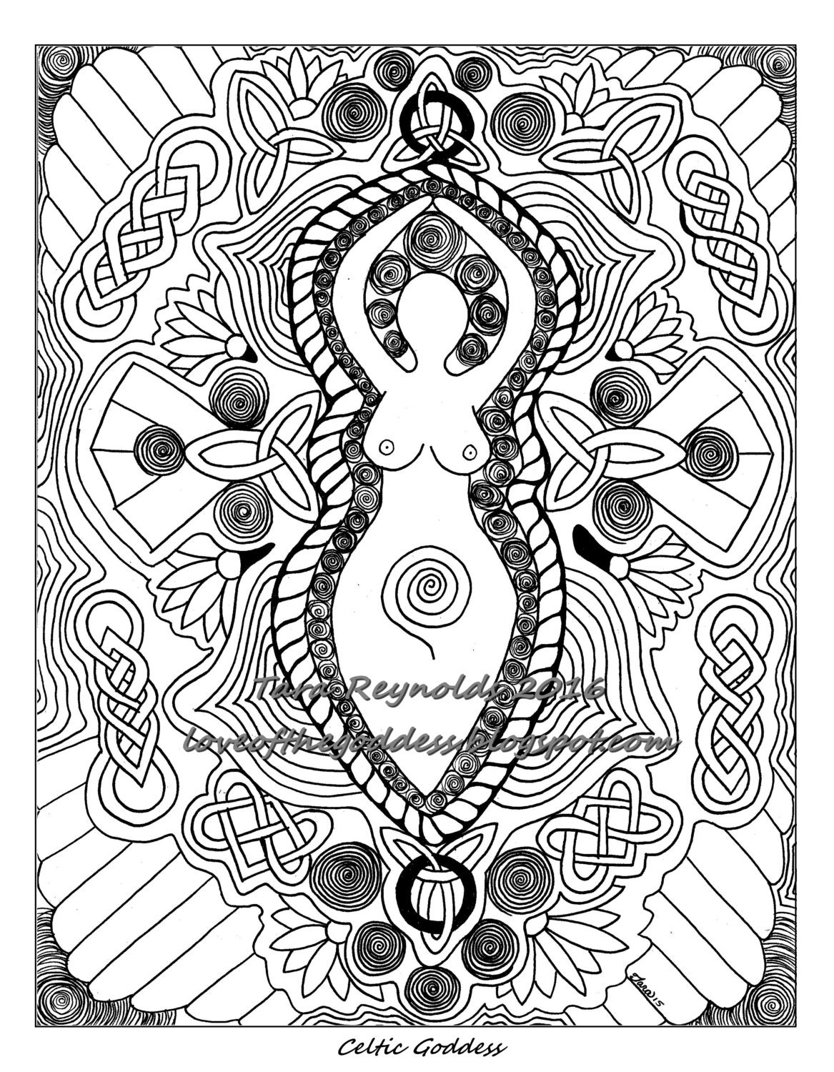 printable coloring pages pagan coloring pages goddess