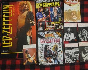 Led Zeppelin Rock N Roll Memorabilia/Postcards/1990 Calendar/Rock N Roll Comic/ Magazine