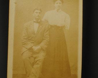 Early 1910's Sepia Tone Photo/Postcard of Couple