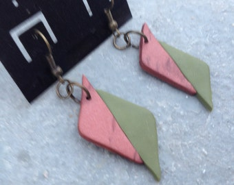 Classy and Trendy Polymer Clay Dangle Earrings