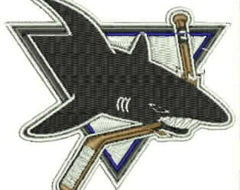 San Jose Sharks Embroidery Design