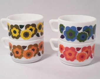 Expresson Lotus Arcopal vintage cups