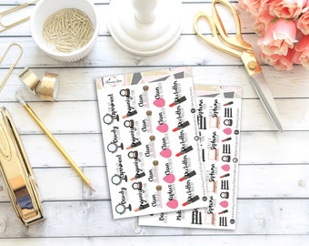 Makeup Addict Set || 60 Planner Stickers